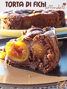 """I biscotti della zia: Torta di fichi affondati - un dolce """"senza"""" è buon..."""