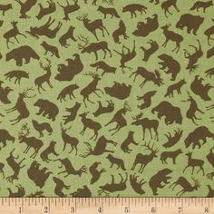 Kanvas Trail Mix Forest Animals Khaki from @fabricdotcom  Designed by Maria Kalinowski for Kanvas in association with Benartex, this cotton print fabric is perfect for quilting, craft projects, apparel and home décor accents. Colors include brown and green.