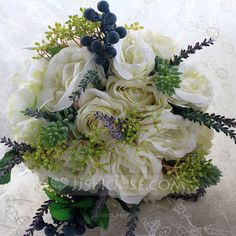 Bridal Bouquets Hand-tied Wedding Party Cloth Ribbon 9.06