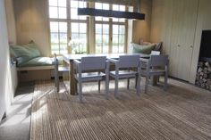 We love this handwoven abaca custom rug!