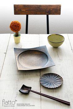 銅彩釉 角皿(大)/作家「水野幸一」/和食器通販セレクトショップ「flatto」