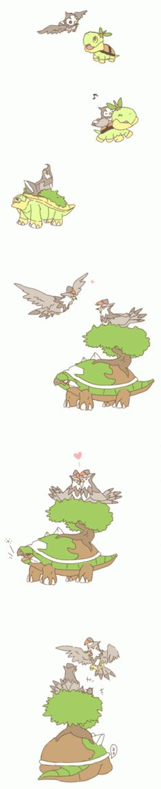 Friends forever <3 even better for me since the first two Pokemon I've ever had where a Torrtera and Starvaraptor