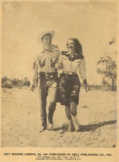 ROY ROGERS & DALE EVANS  - Dell Publishing Co. Inc. - 1947.