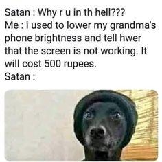 That's pretty evil . Funny Goals, Satan, Funny Texts, Dankest Memes, Comedy, Lol, Sarcasm, Pretty, Funny Text Messages