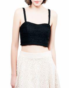 #Top corsetero blonda Shana. También en color crudo. 7,99€ www.shana.com #ropa #clothes