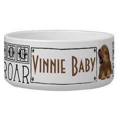 "Pet DOG Bowl Large ""I am dog Hear Me Roar"" - cat cats kitten kitty pet love pussy"