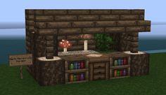 Furnishing Tips - Home interior Minecraft Project Minecraft Japanese House, Minecraft Small House, Minecraft Mansion, Minecraft Houses Blueprints, Minecraft Plans, Minecraft House Designs, Minecraft Tutorial, Minecraft Creations, Minecraft Crafts