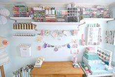 My craft room Jan 2013 by toriejayne, via Flickr