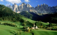 Beautiful mountainous region, the Val Di Funes, in Italy
