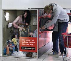 Modig - og sjov tysk job kampagne