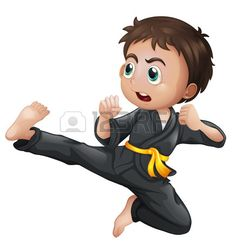 Illustration of a brave yellow belter on a white background Stock Vector Karate Birthday, Karate Gi, Kung Fu Martial Arts, Yellow Belt, Kick Boxing, Vector Art, Brave, Clip Art, Sport