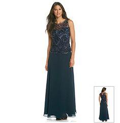 Patra women 39 s mock 2 piece evening gown tops products for Elder beerman wedding dresses