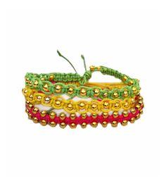 Set 3 pulseras cordón. Un accesorio tanto para el día como para la noche. http://Alltrendy.es