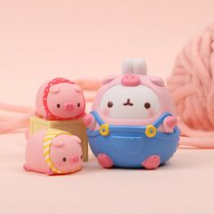 Molang Toy PVC mini Figure Doll Fairyland Series - The Three Little Pigs Baby Elephant Drawing, Pig Art, Sweet Little Things, Molang, Three Little Pigs, Anime Love Couple, Cute Pigs, My Little Girl, Clay Art