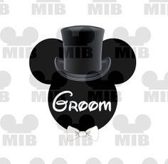 Disney Wedding GROOM  Perfect for Your Disney by MiceInBlack, $5.00