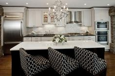 Glamour Kitchen by: Christine Baumann Interiors (Cultivate.com)