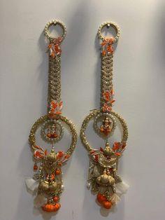 Door Hanging Decorations, Diwali Decorations At Home, Diwali Diy, Diwali Craft, Ganesh Wallpaper, Door Hangings, Entrance Decor, Hanging Flowers, Love Art