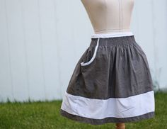 Running With Scissors: Tutorial: Shirred Pocket Skirt