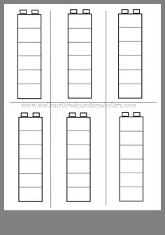 Preschool Worksheets - Best Coloring Pages For Kids Lego Duplo, Lego Math, Kindergarten Math Worksheets, Teaching Math, Math Patterns, Montessori Art, Lego Activities, School Clipart, Math About Me
