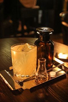 The McAdam's Penicillin in the Hemingway Bar, Prague (link to recipe for similar drink attached)