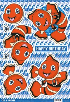 Buzzcraft Under the Sea Cut & Create - Clowning Around, clown fish