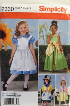 Simplicity 2330 Child's Costumes