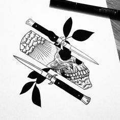 Tattoo Sketches, Tattoo Drawings, Body Art Tattoos, Art Drawings, Switch Blade Tattoo, Barber Tattoo, Piercings, Tattoo Flash Art, Pen Art