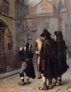 """Jean-Leon Gerome: """"Pifferari"""", 1870,  Oil on canvas,  50.75 x 41.25 cm (19.98"""" x 16.24""""), Private collection."""