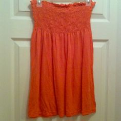 Orange summer top/coverup Orange tube top/cover up Tops