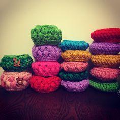 Crochet Bangles #crochet #handmade #bracelet