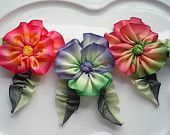 French Ribbon Flower -Vintage Inspired Pansy Collection