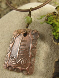 Willow Celtic Tree Astrology Ogham Copper by soulharborjewelry
