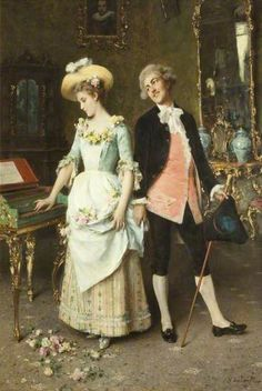 The Proposal by Federico Andreotti (Italian 1847-1930)