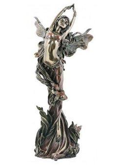 Bronze Effect Standing Fairy Figurine