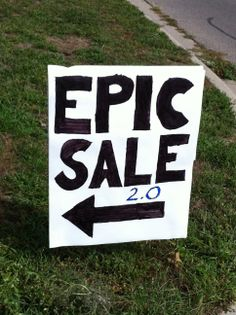 The most creative garage sale sign I've ever seen