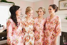 Getting Ready Kimono Robes - Robes by silkandmore - Pink Floral Posy Robes for bridesmaids | Getting Ready Bridal Robes, $25 (http://robesbysilkandmore.com/pink-floral-posy-robes-for-bridesmaids-getting-ready-bridal-robes/)
