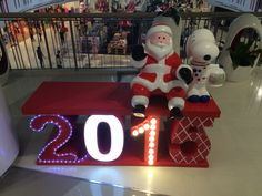Santa & Snoopy.