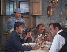 Hop Sing, Little Joe, Hoss and Adam During Suppertime.