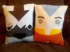 Aang Appa Avatar the last air bender pillow cushion by telahmarie, $30.00