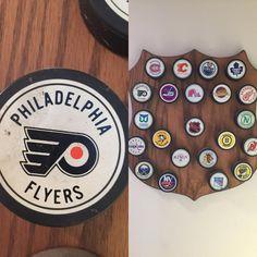 Philadelphia Flyers. 1967.  Two Stanley Cups.  #puck #puckcollector #puckcollection # #philadelphia #philadelphiaflyers #vicroy #stanleycupchampions #ccm #bauer #texaco #pa #gufex #generaltire #bobbyclarke #daveshultz #fredshero #oldpuck