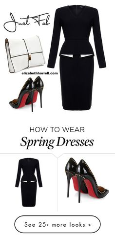 """LIZ"" by elizabethhorrell on Polyvore featuring Raoul, Dsquared2 and Christian Louboutin"