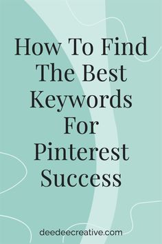 Want to know how to find the best keywords for Pinterest success? While gorgeous Pins are important on Pinterest, keywords on those Pins is even more important. So, what is the best way in which to search for relevant keywords? Learn all about keyword research by simply clicking through to read and learn more. The Marketing, Marketing Ideas, Social Media Marketing, Work From Home Business, Business Tips, Online Business, Virtual Assistant Services, Community Manager, More Words