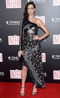 Anne Hathaway from The Big Picture: Today's Hot Pics  The Intern star shines at the premiere of her upcoming flick.