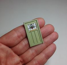 Miniature 1/4 1:48 Quarter Inch QS Door Retro 1930 1940 For Doll House Furniture OOAK by IckleFingz on Etsy