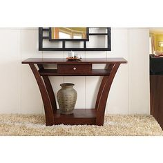 Furniture of America Olesca Dark Walnut Sofa Table with Drawer