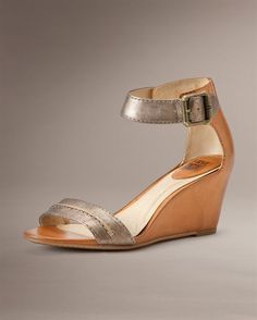 Frye Carol Seam    Metallic wedges...love these!!