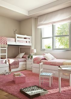 Three twin beds in one room 3 beds in one room ideas little girl bedroom leach . three twin beds in one room best small shared bedroom ideas Bed For Girls Room, Little Girl Rooms, Girls Bedroom, Room Kids, Triplets Bedroom, Bedroom Bed, Bed Room, Childs Bedroom, Child Room