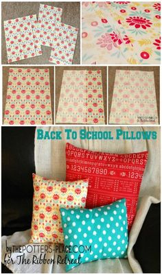 Back To School Pillow Covers - The Ribbon Retreat Blog