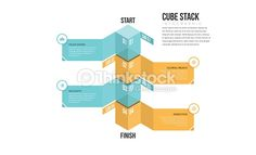 Vector Art : Cube Stack Infographic
