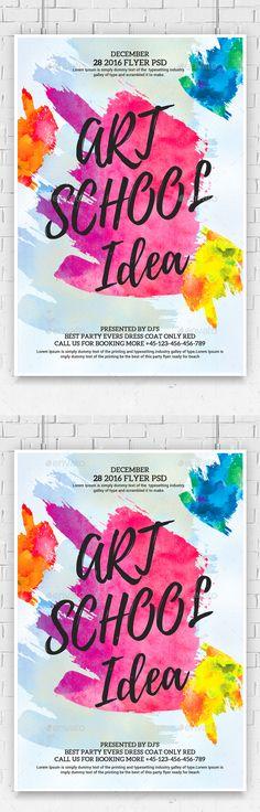 Junior Art Free Trial Class Flyer template Jr art, Template and - daycare flyer template